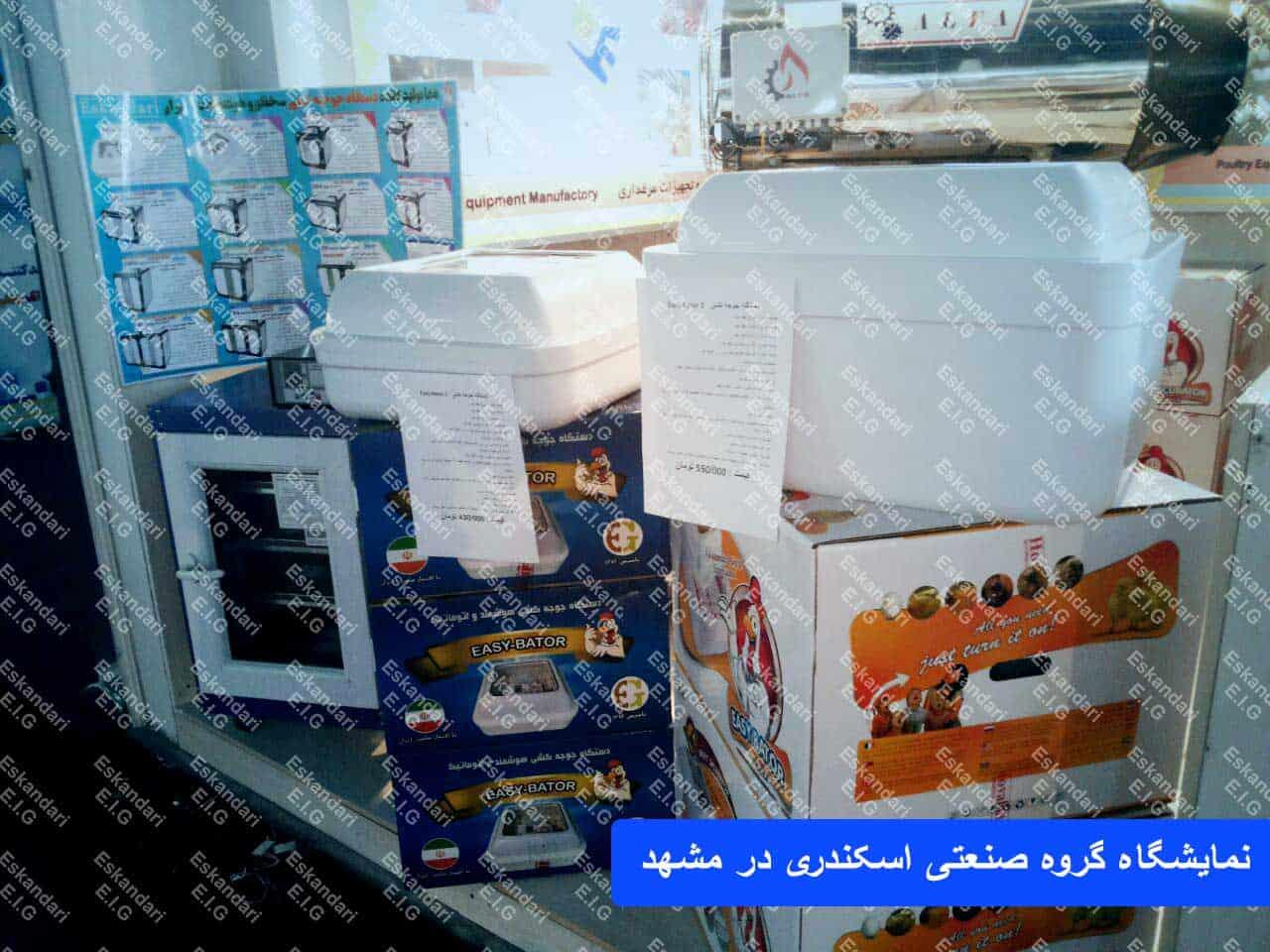 دستگاه های جوجه کشی در مشهد