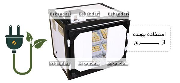 استفاده بهینه از برق دستگاه جوجه کشی 252 تایی