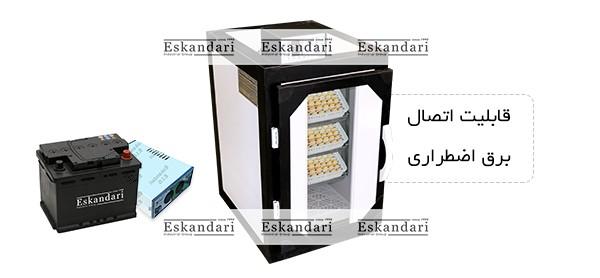 قابلیت اتصال به برق اضطراری دستگاه جوجه کشی 168 تایی