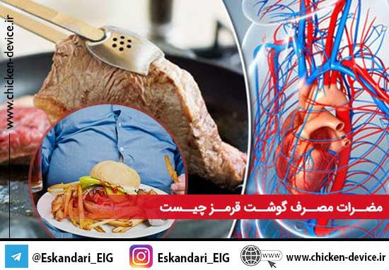 مضرات مصرف گوشت قرمز چیست