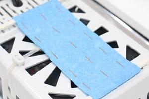 تامین دقیق رطوبت با استفاده از پد سلولزی و پمپ رطوبت