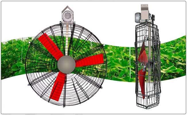 فن Orbit مخصوص ایجاد جریان هوا در مرغداری ، گلخانه